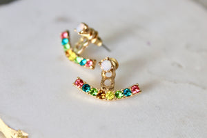 Aves Rainbow Ear Jacket Earrings