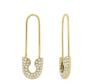 Kenny Safety Pin Earrings