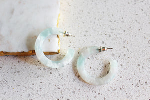 Kimby Milky Acrylic Hoop Earrings