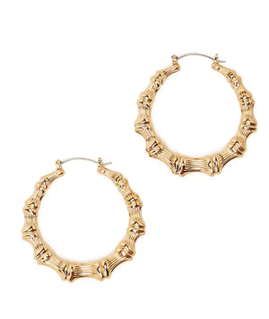Lea Bamboo Hoop Earrings