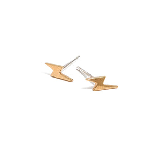 Lightening Bolt Stud Earrings