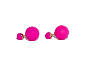 Lily Double Pearl Earrings