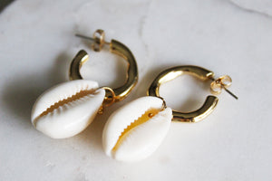 Lucia Cowrie Shell Earrings
