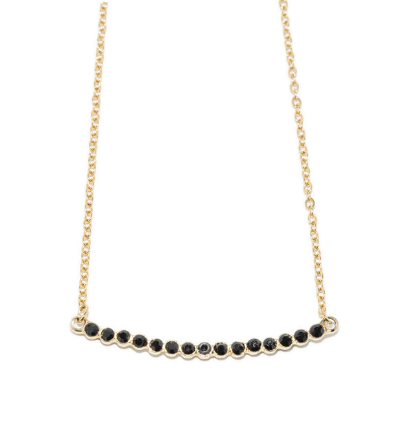 Penelope Curved Bar Necklace