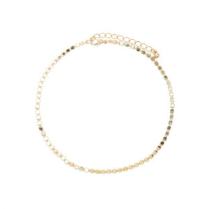 Quinn Flat Chain Choker Necklace