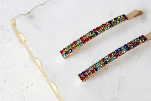 Rainbow Bobby Pin Set
