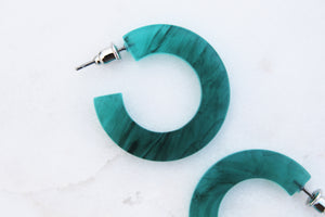 Sage Acrylic Hoop Earrings