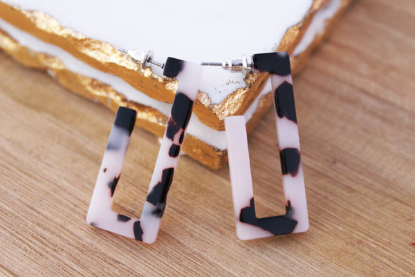 Sara Rectangular Acrylic Earrings