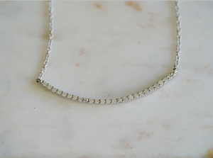 Em Curved Bar Necklace
