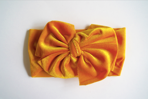 Velvet Big Bow Baby Headband