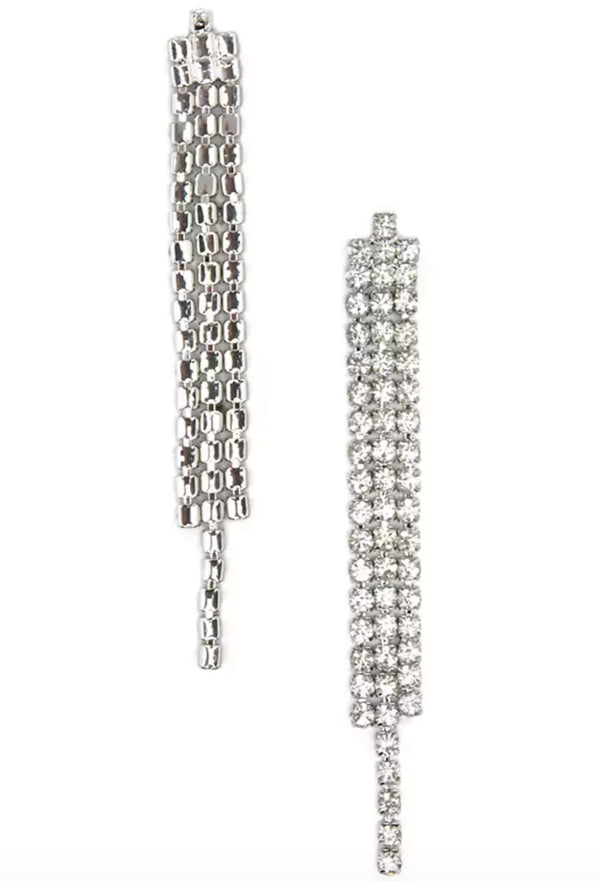 Serena Rhinestone Drop Earrings