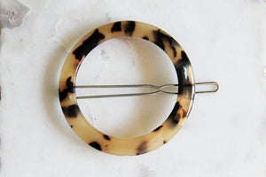 Tortoise Shell Circle Barrette