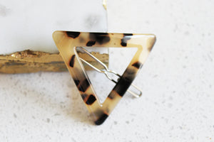 Tortoise Shell Triangle Barrette