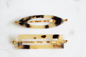 Tortoise Shell Small Barrette Set
