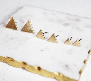 Triangle Trio Stud Earrings