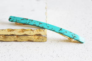 Turquoise Long Barrette