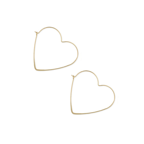 Valentina Heart Hoop Earrings