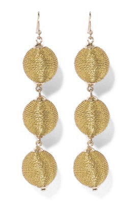 Willa Triple Ball Drop Earrings