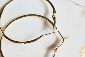 Rya Pearl Hoop Earrings