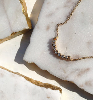 Sandrine Curved Bezel Necklace
