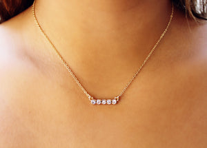 Analise Bezel Bar Necklace