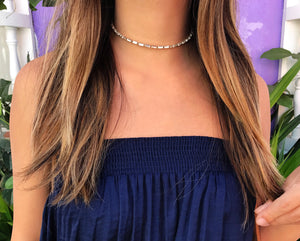 Gemma Crystal Choker Necklace