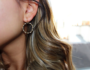 Portia Circle Hoop Earrings