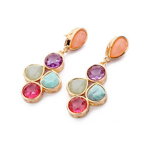 Isla Multi-colored Drop Earrings