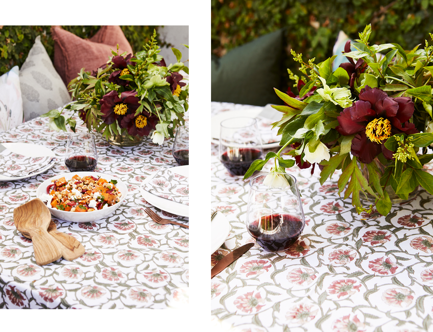 Christmas Table Floral Styling