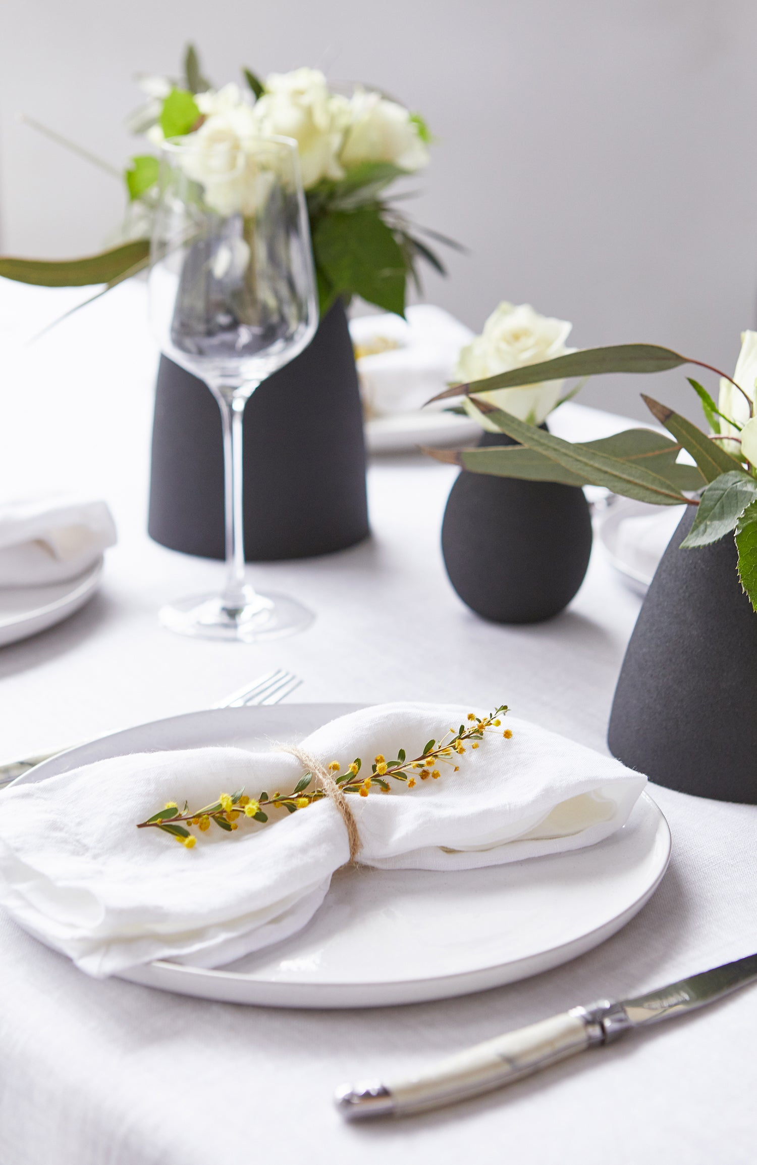 Wedding Table Styling, L&M Home - White Linen