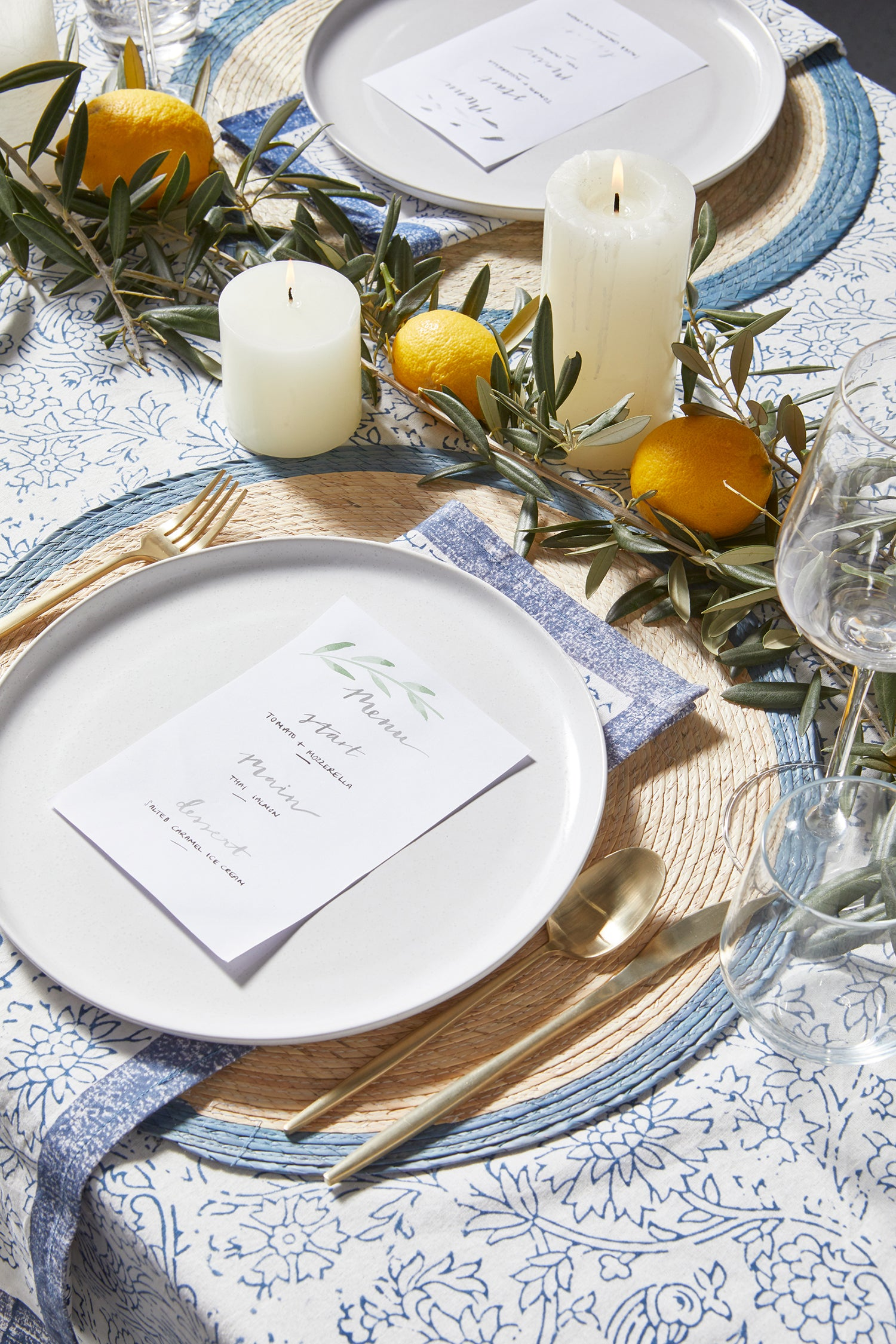 Wedding Table Styling, L&M Home - Tuscan Wedding