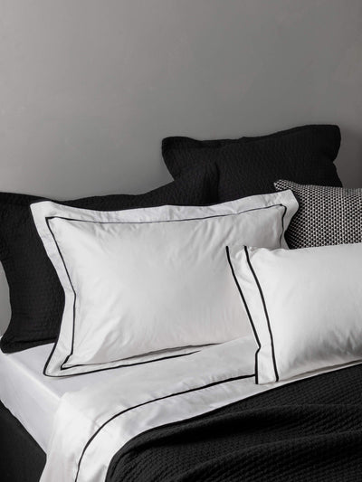 Grosgrain Pillowcase - Black Pillowcase L&M Home