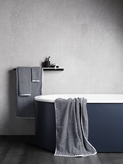 Herringbone Black/White Towels Cool Galah L&M Home