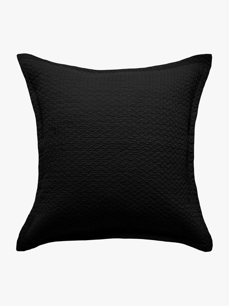 Aspen Quilted Pillowcase - Black Quilted Pillowcase 2020 Standard Pillowcase