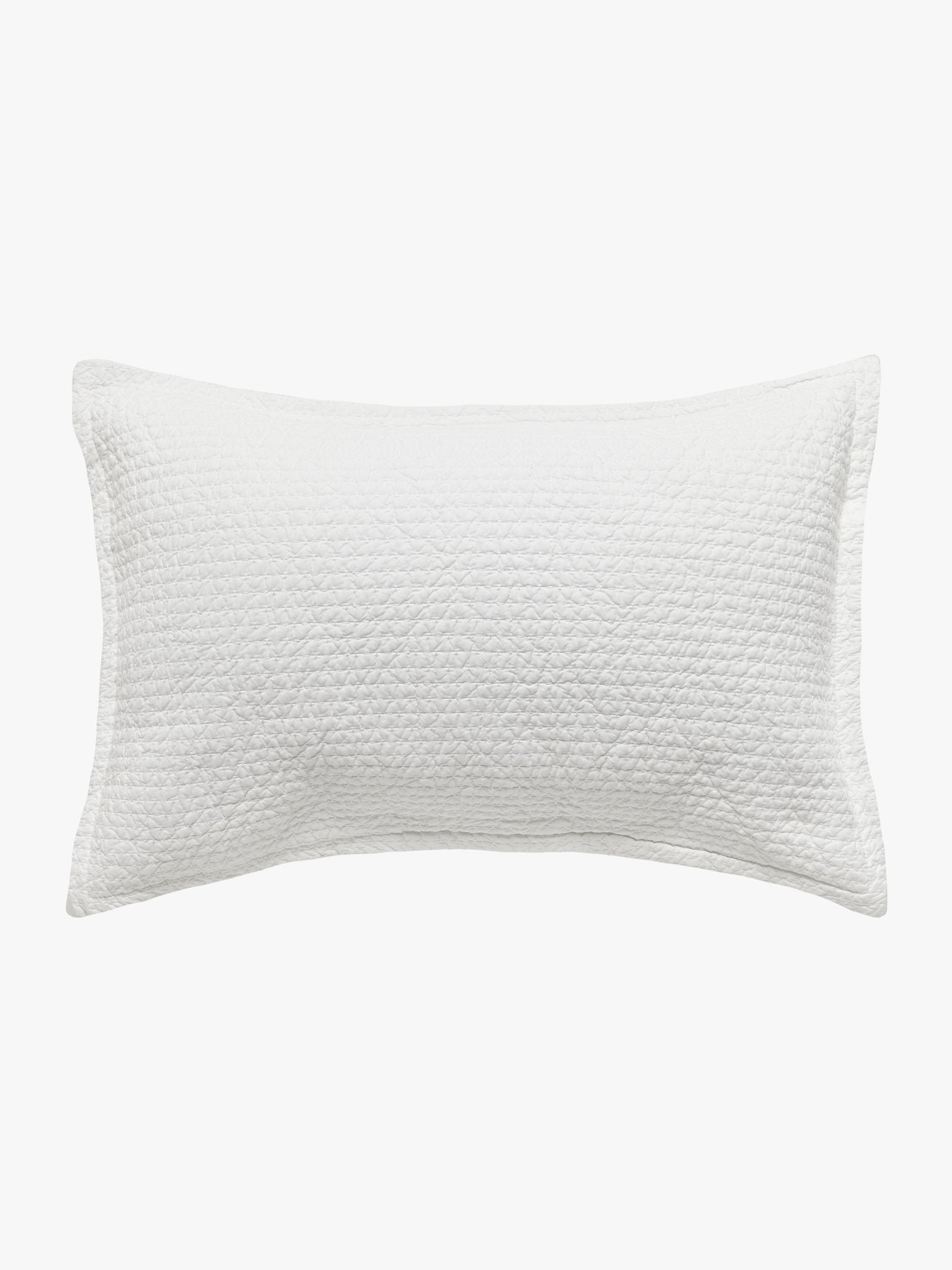 Aspen White Quilted Pillowcases Quilted Pillowcase L&M Home Standard Pillowcase