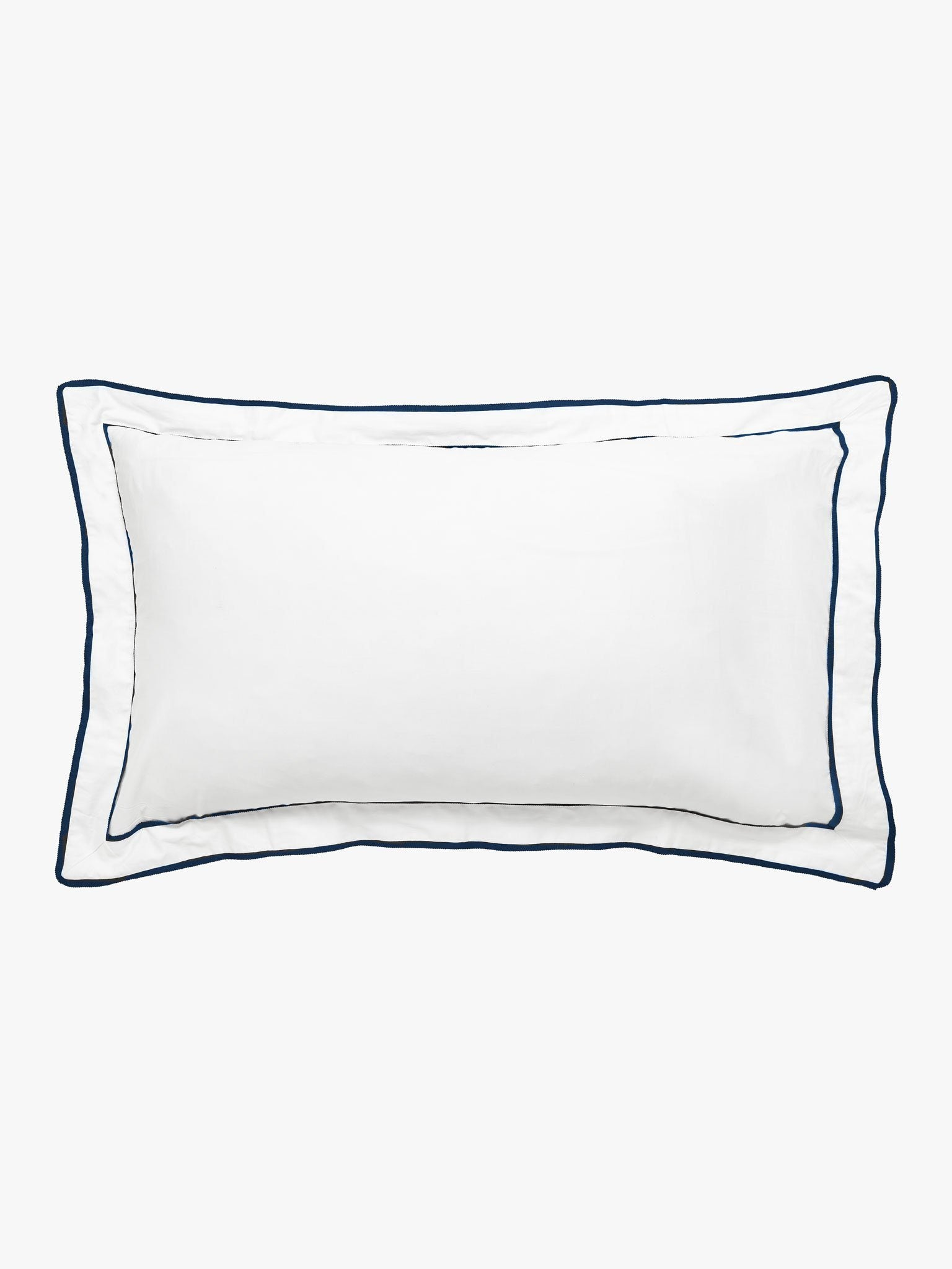 Grosgrain Navy Pillowcase Pillowcase L&M Home Tailored Pair