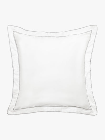 Grosgrain Silver Pillowcase Pillowcase L&M Home European