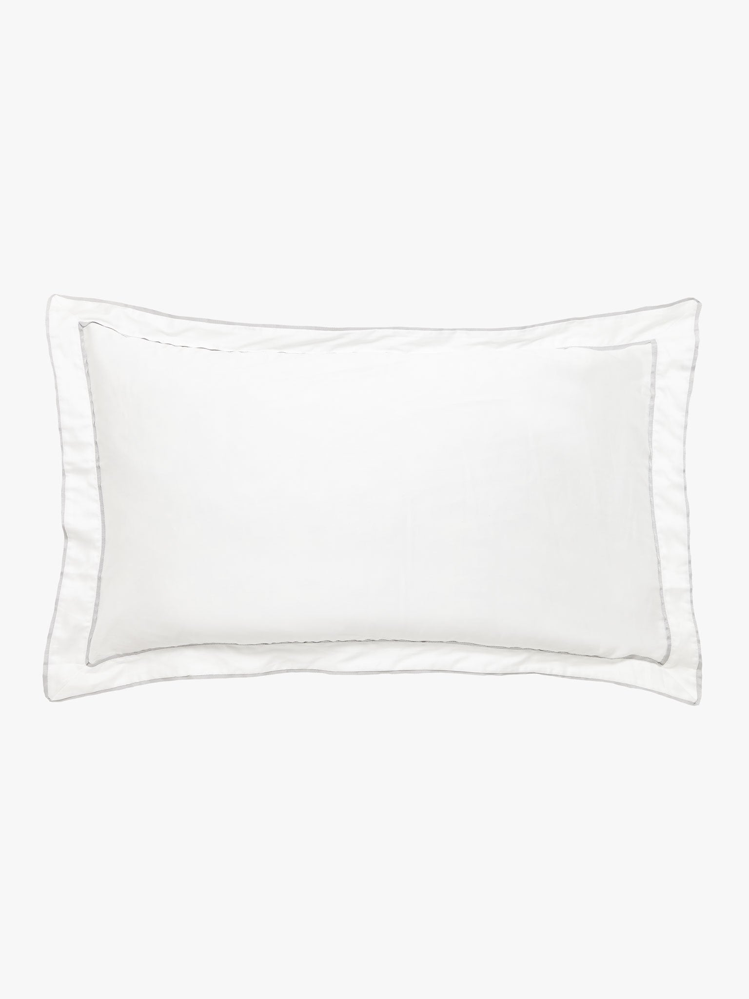 Grosgrain Silver Pillowcase Pillowcase L&M Home Tailored Pair