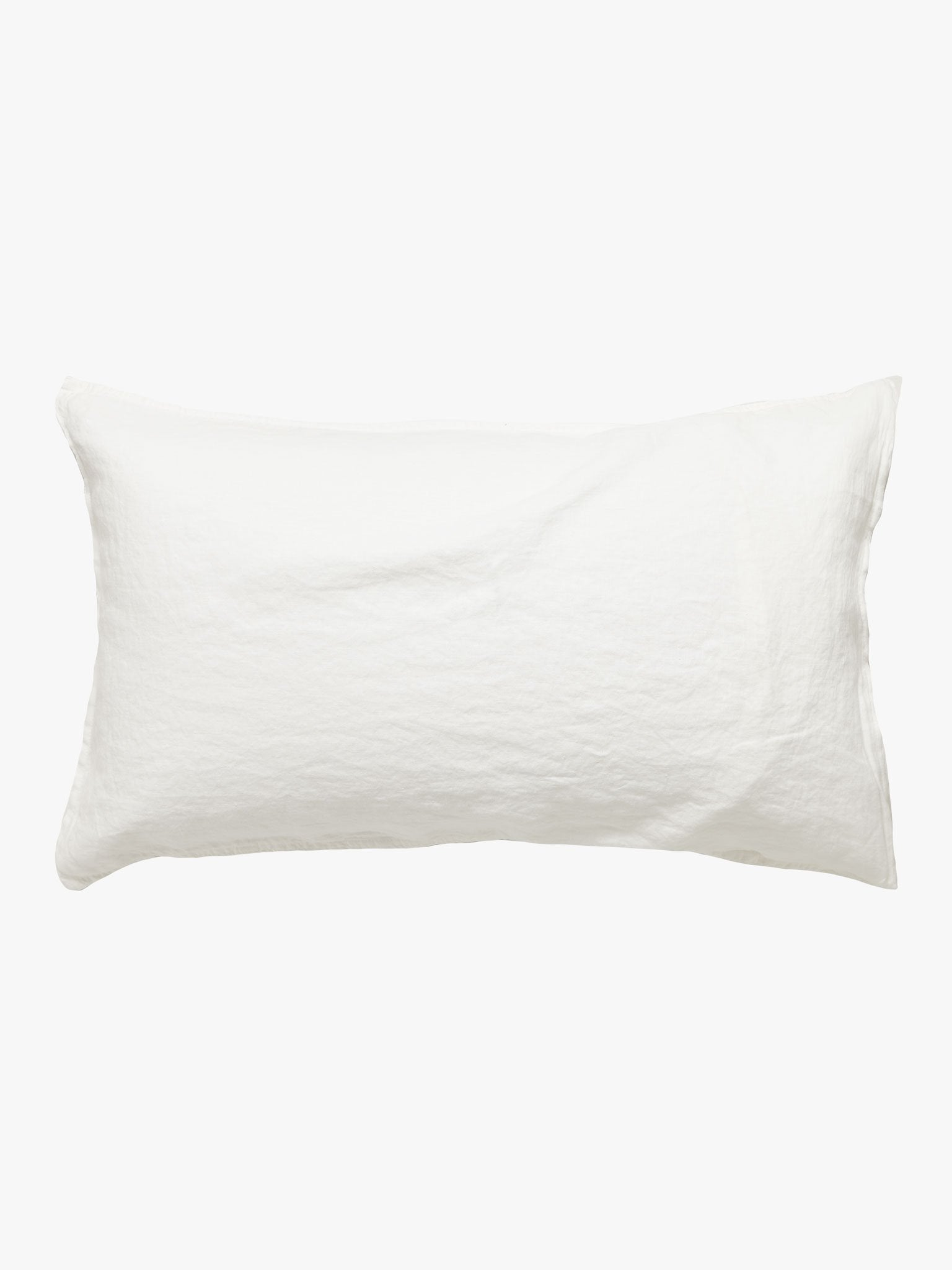 Mondo White French Linen Pillowcase Pillowcase L&M Home Standard (Pair)
