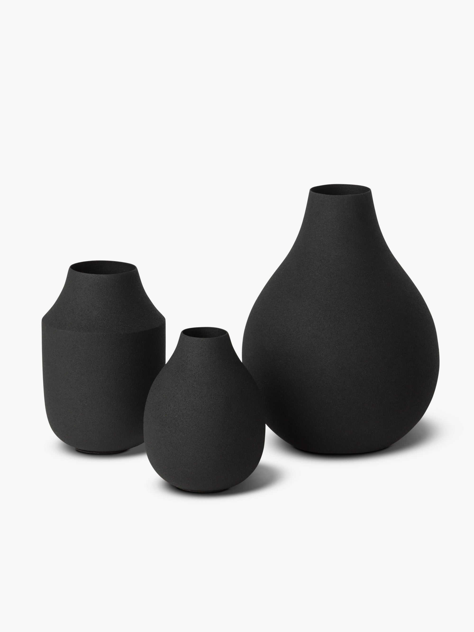 Mona Trio of Vases - Black Vase Winter 19