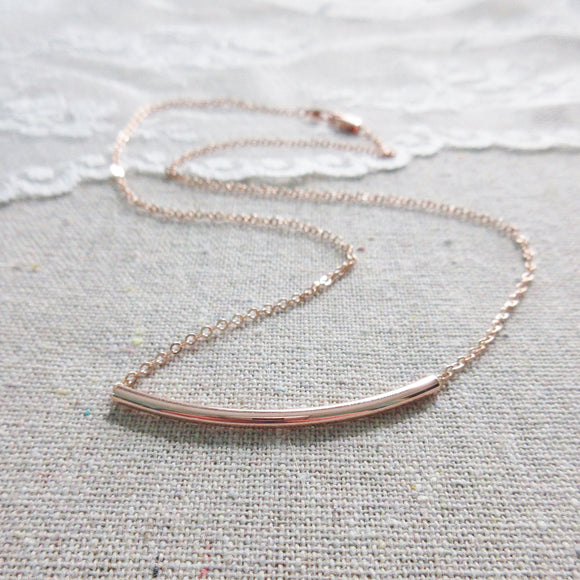 Arch Rose Gold Necklace