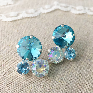 Bubble Cluster Post Earrings