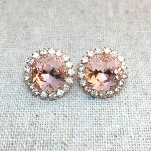Medium Cushion Luxe Post Earrings