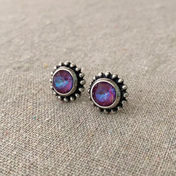 Diamante Beaded Post Earrings