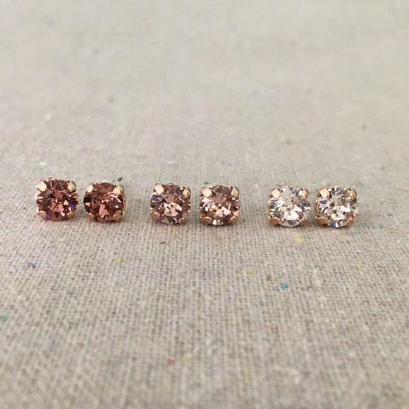 Diamante Post Earrings • 6mm