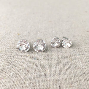 Diamante Post Earring Set