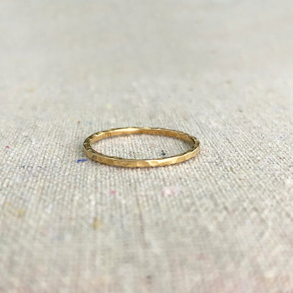 Hammered Stacking Ring • Bronze • Standard or Midi