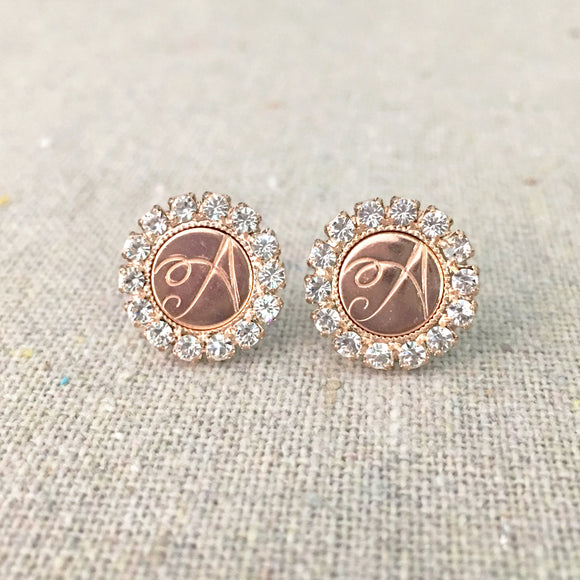 Monogram Luxe Post Earrings