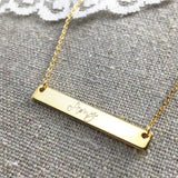 Nameplate Bar Necklace Heatherly Jewelry