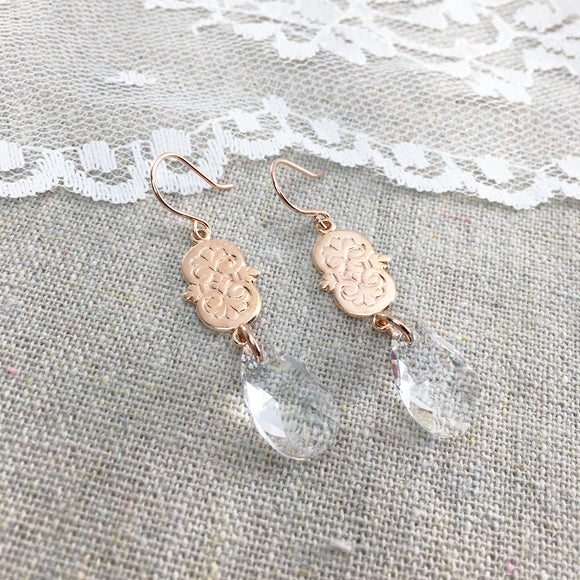 Scrollwork Teardrop Earrings